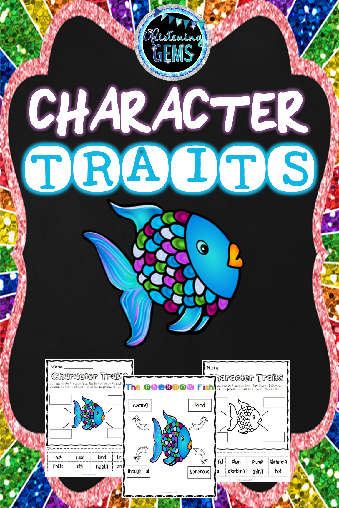 The Rainbow Fish Character Trait Activities No Prep