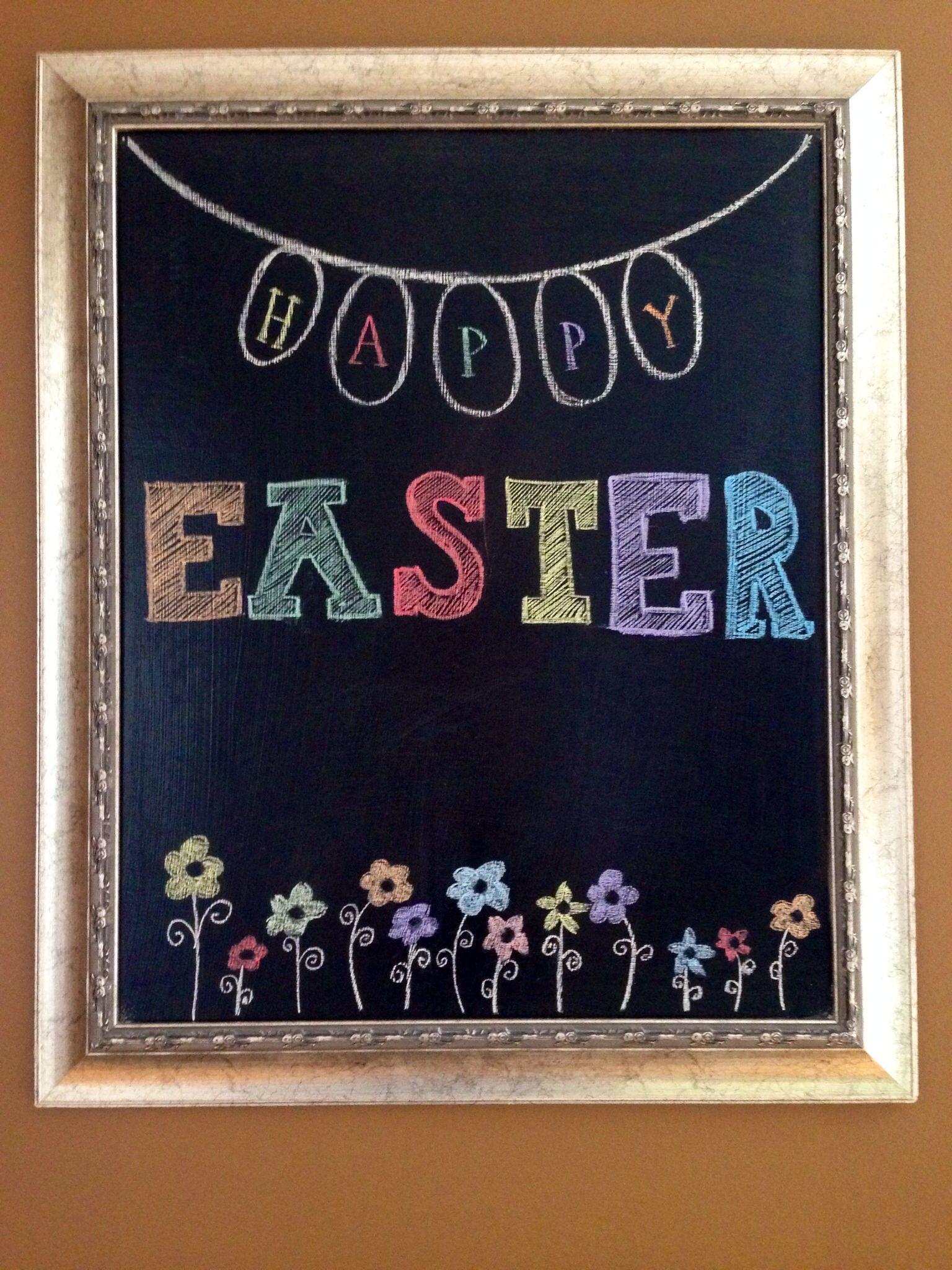 Easter chalkboard | Chalkboard ideas | Chalkboard drawings ...