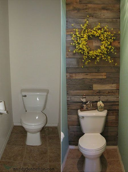 Diy Decorating Ideas Pallets Are Inexpensive And Extremely Versatile In This Powder Room
