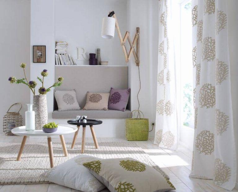 Gardinen Wohnzimmer Mit Mediterrane Stoffe Gardinen Einzigartige