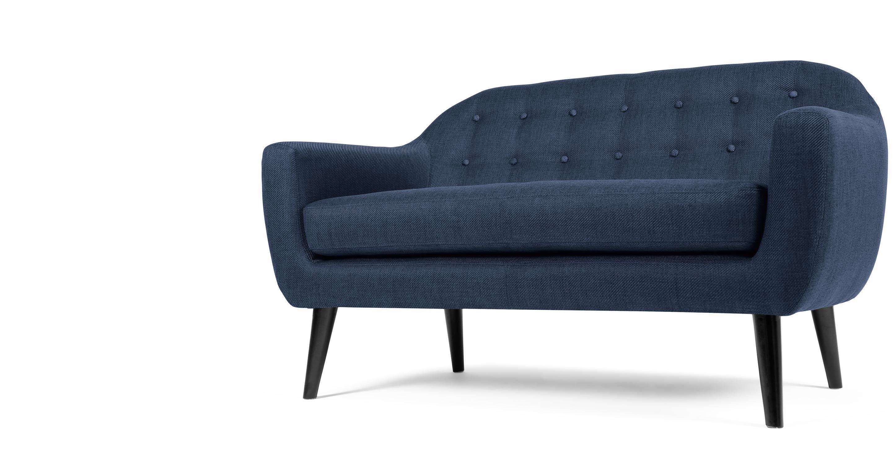 Ritchie 2-Sitzer Sofa, Dunkelblau | Pinterest | Colour pop, Danish ...