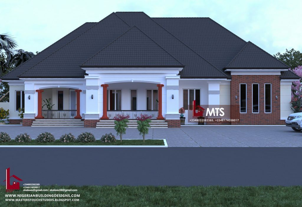 4 Bedroom Bungalow Archives - in 2020 | Modern bungalow ...