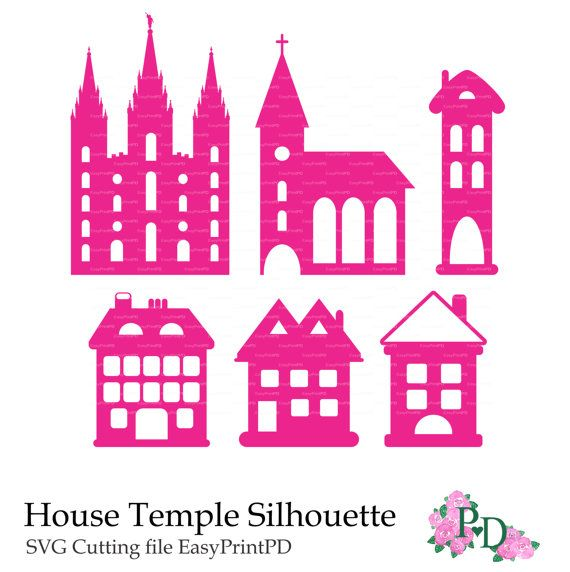 svg cutting template house silhouette salt lake temple lds mormon clip art png eps dxf vector