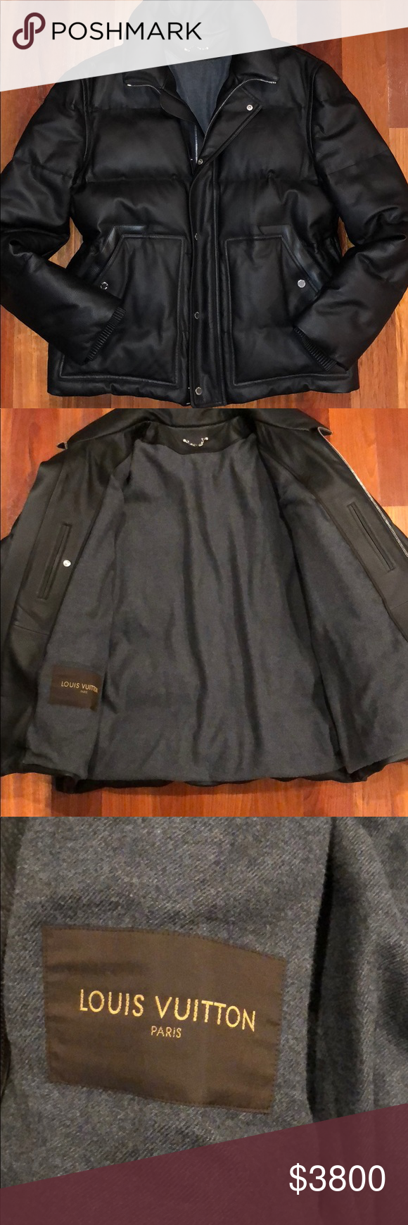 962428d25ee8 Authentic Louis Vuitton Men s Leather Down Jacket Worn once! Limited  Edition! Great condition! Stunning! Louis Vuitton Jackets   Coats