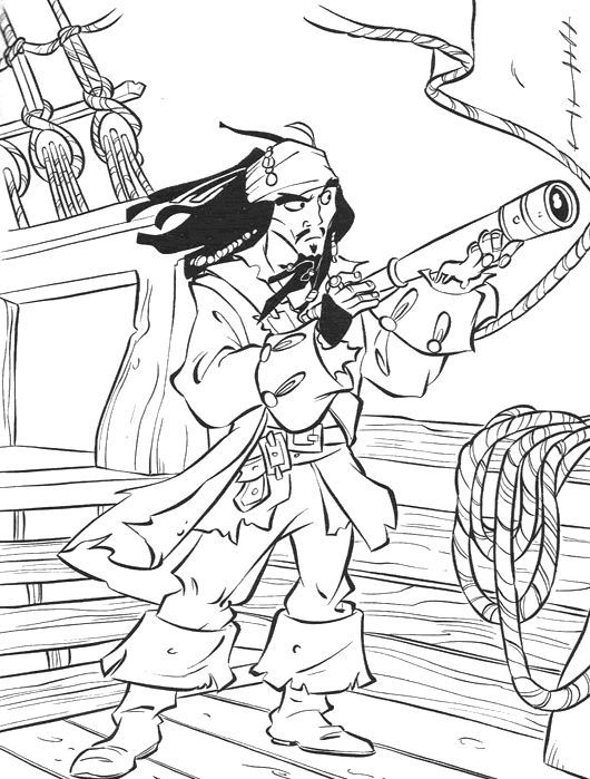 Top 10 Captain Jack Sparrow Coloring Pages For Toddlers ...