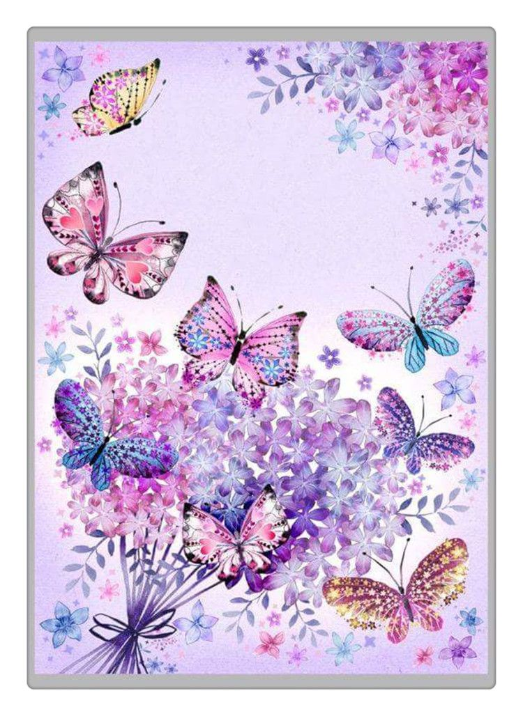 2017 DIY Diamond Painting Cross Stitch Butterflies In Love With Flowers Mosaic Embroidery Picture Rhinestones