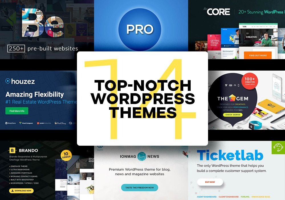 14 Top Notch Multipurpose #WordPress #Themes To Buy | Website ...