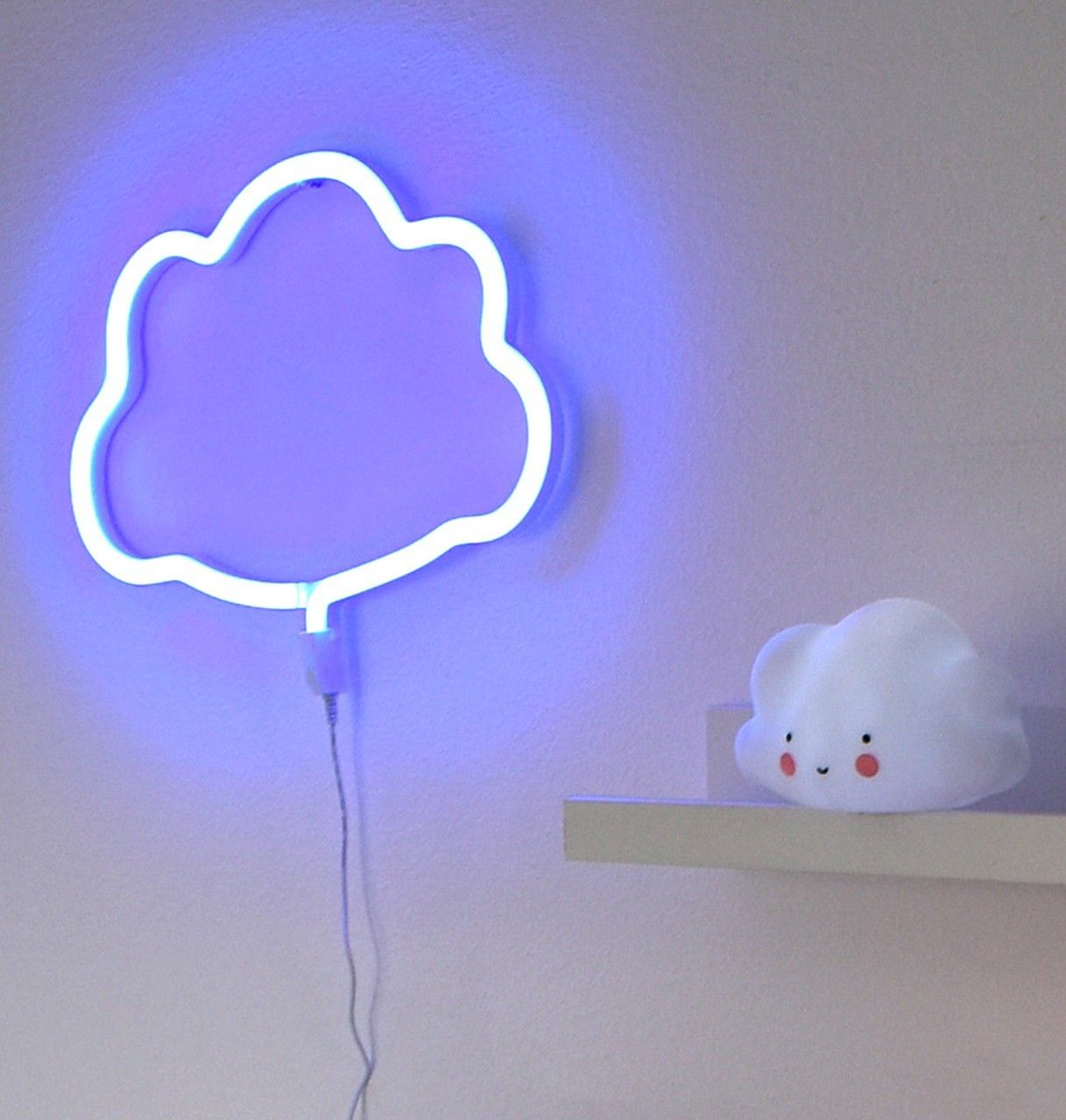 Lampe Wolke A Little Lovely Company Lampe Neon Style Light Wolke Blau