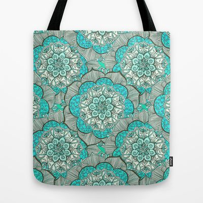 Fresh Doodle in my happy colors Tote Bag by micklyn - $22.00