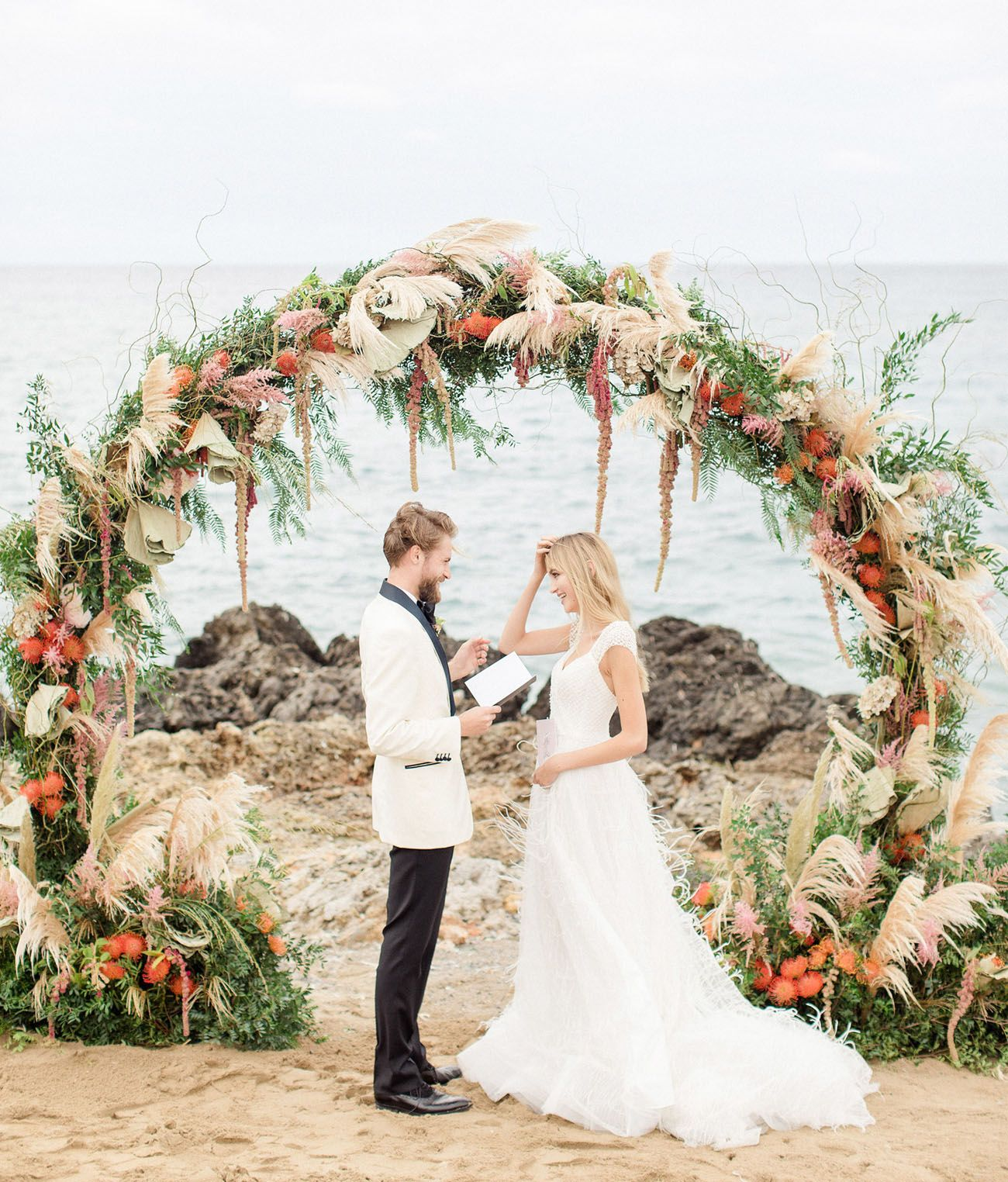 Belongil Beach Wedding Ceremony: This Elegant Beach Wedding Captures Crete's Undeniable