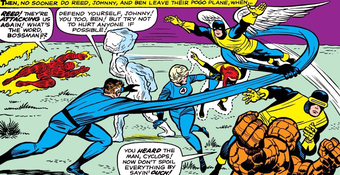 Fantastic Four Vs X Men Comic Panels Comic Book Cover Batman And Superman