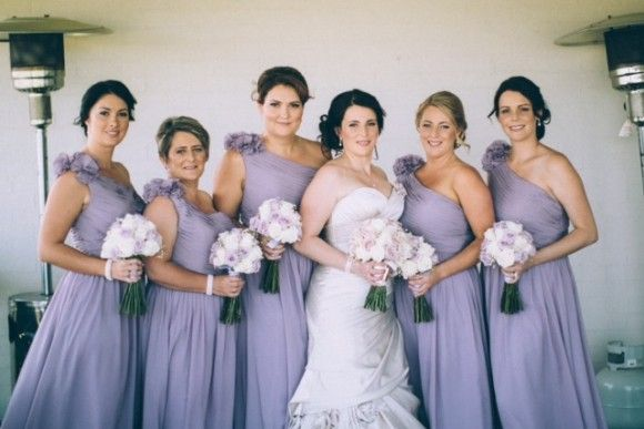 The Lavender Grey Bridesmaid Dresses From Fhfh Look Soooo Fantastic On Victoria S