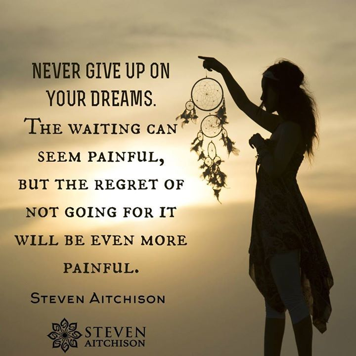 I Will Never Give Up On You Quotes: Never Give Up On Your Dreams. The Waiting Can Seem Painful