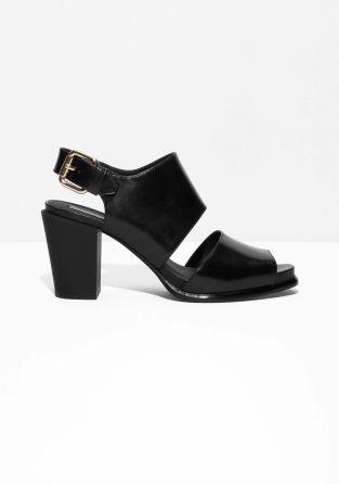 & OTHER STORIES Square Buckle Heeled Sandals