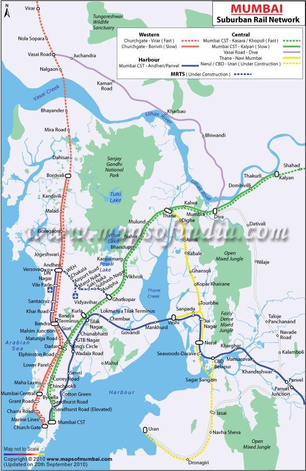 Mumbai Railway Map Train Map Local Train Map Mumbai Map