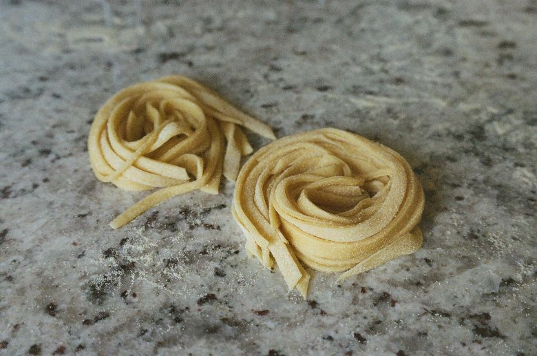 duck egg pasta at witchin' in the kitchen beautiful with