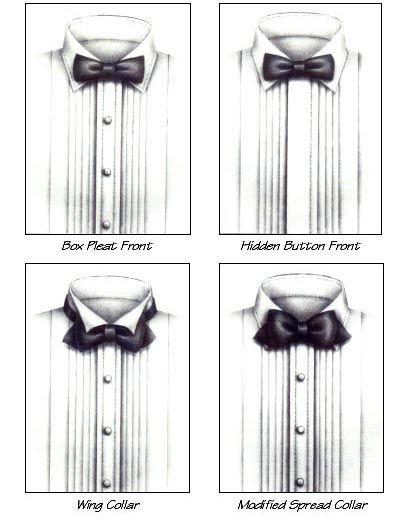 tuxedo shirt types