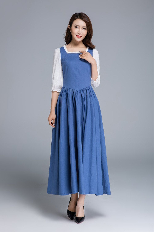 Blue dress, white dress, ruffle dress, party dress, belle dress ...