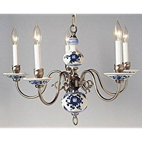 DELFT HANGING CEILING LAMP CERAMIC CHANDELIER mrc13