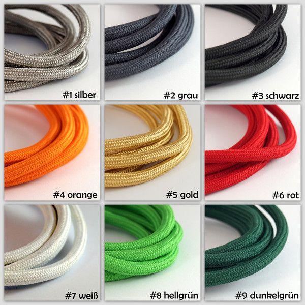 Verfugbare Kabelfarben Fur Die Betonlampen Tischlampen