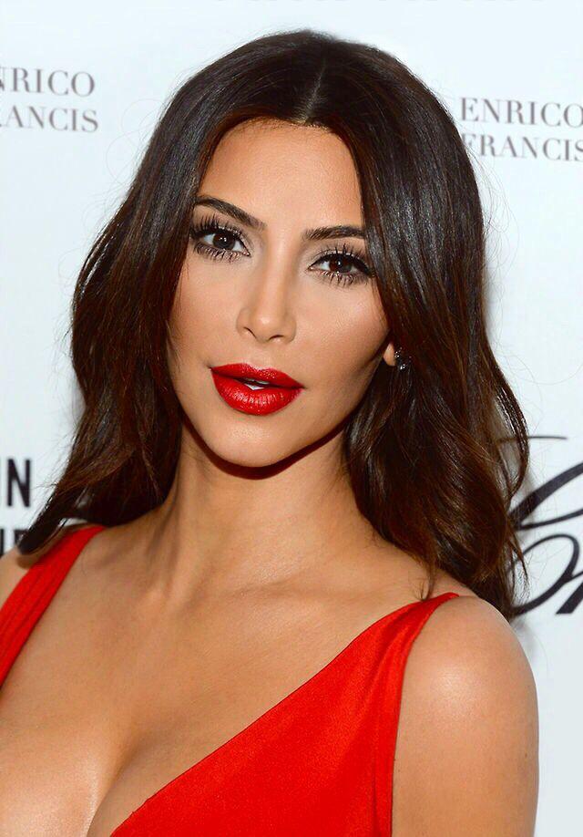 Mr k red dress makeup