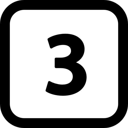 Black Number 3 Icon Image 8113 Vimeo Logo Tech Company Logos Icon