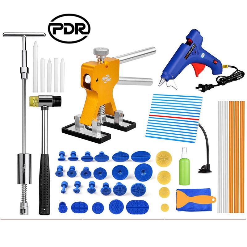 (83.54$)  Buy here  - Super PDR Tools Paintless Dent Repair Removal Reflector Board Dent Puller Mini Lifter Slide Hammer Dent Lifter Puller Set