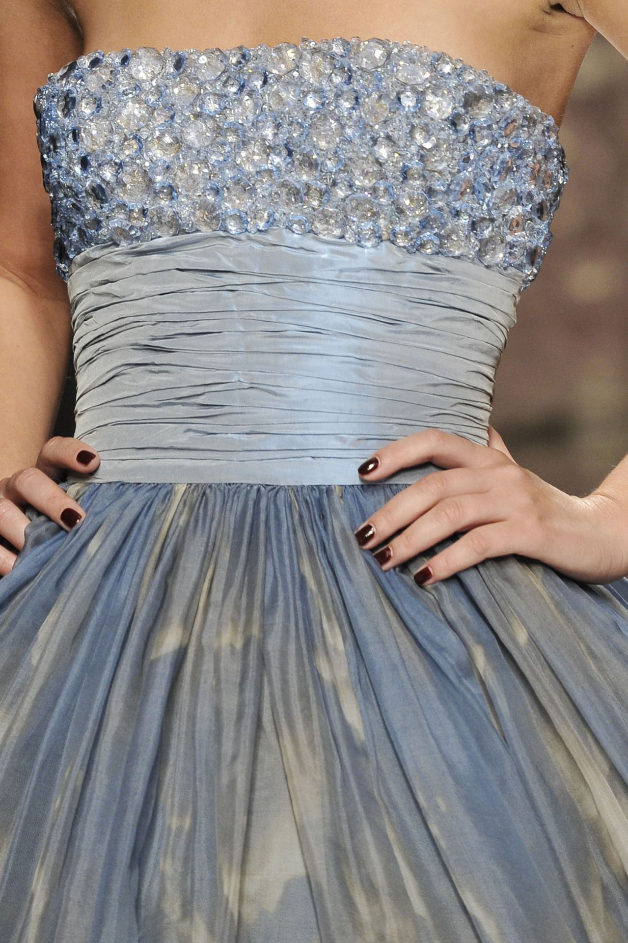 Elie Saab. Not sure how I feel about the huge jewels, but I ...