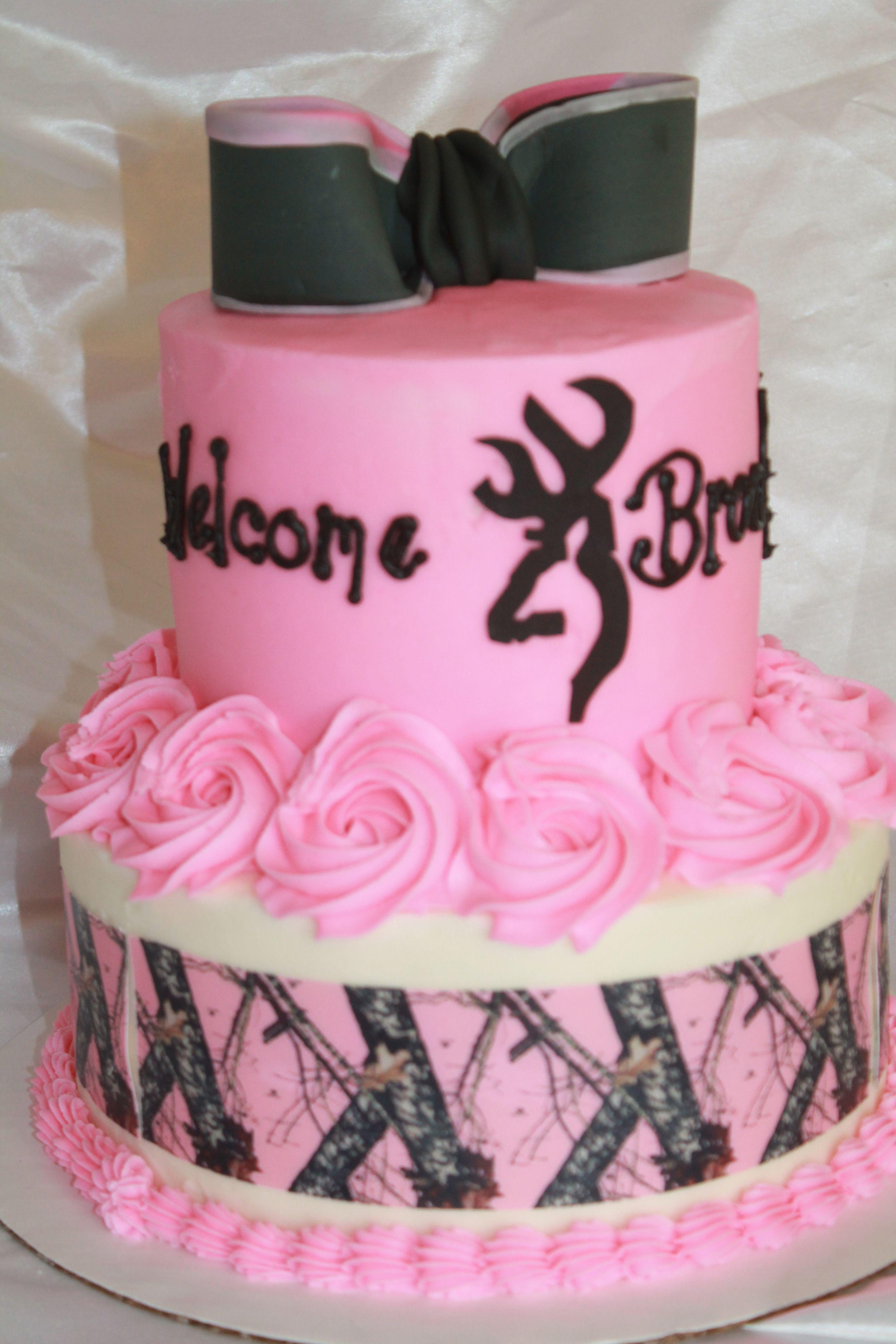 Wel e baby girl camo cake Cakes I ve made Pinterest