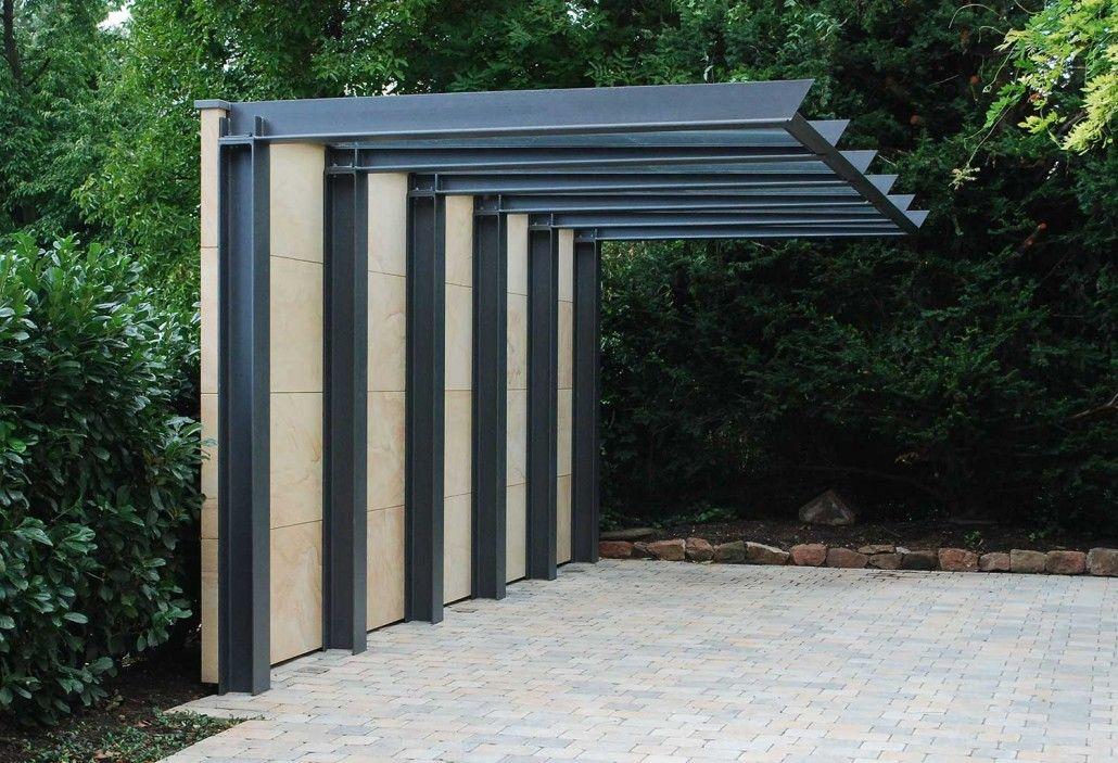Carport architektenstudio melzer tuin pinterest for Carport metall glasdach