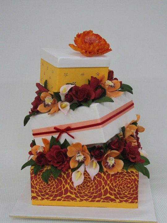 Cake Box Decorating Ideas Gift Box Cake  Cake Decorating Ideas  Pinterest  Boxed Cake