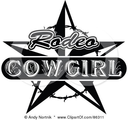 Rodeo Cowgirl Badge