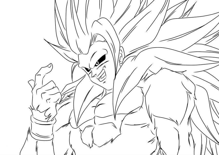 Dragon Ball Z Goku Super Saiyan Four Challenging Enemy ...