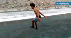 Indians are the craziest, most baller people you will find. Here's some proof!  Jumping into the FREEZING Zanskar River, Ladakh!   All credits to Hardy Kd!  #HappyTrelling
