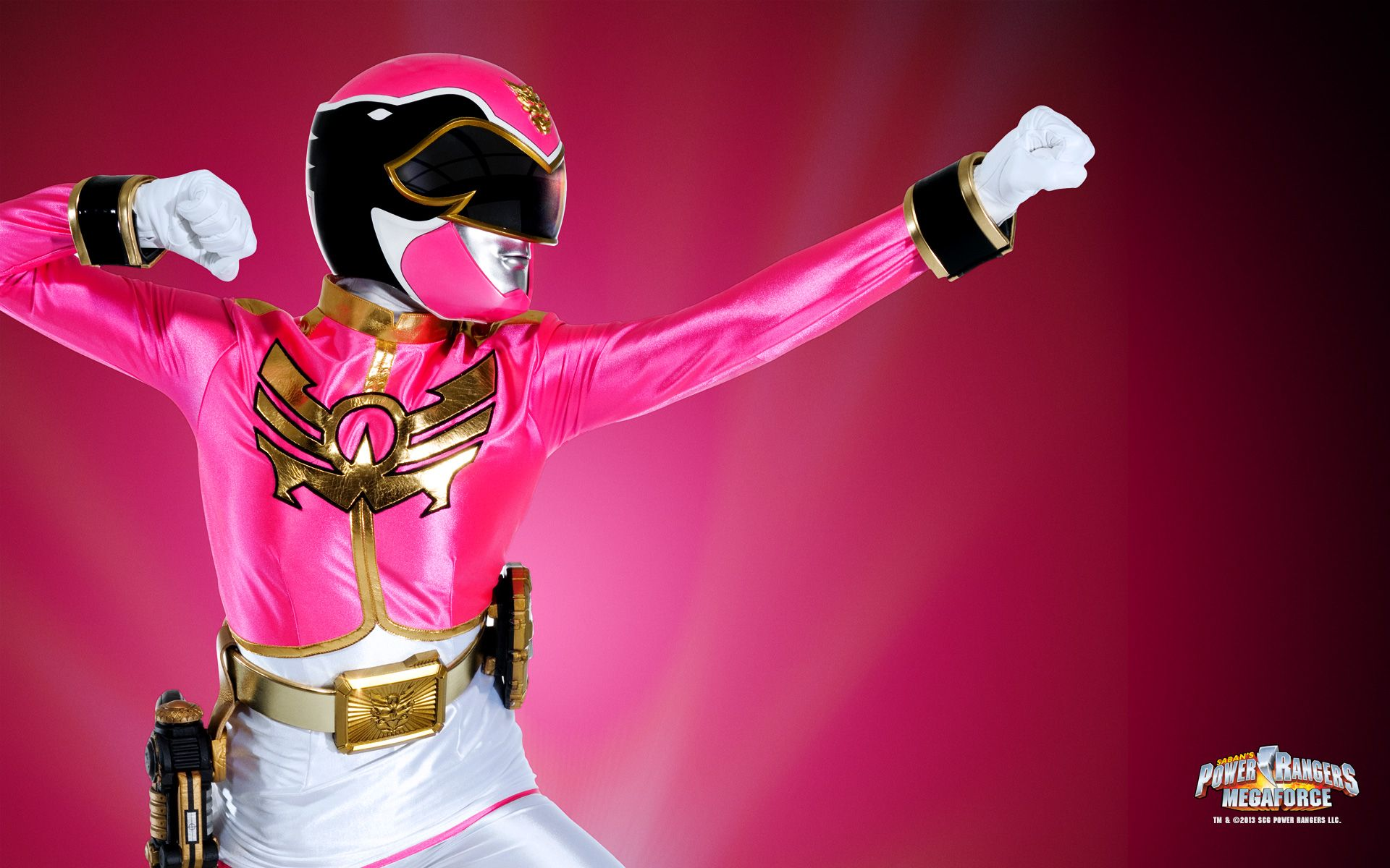 Pink Megaforce Ranger | Power Rangers | Pinterest | Video ...