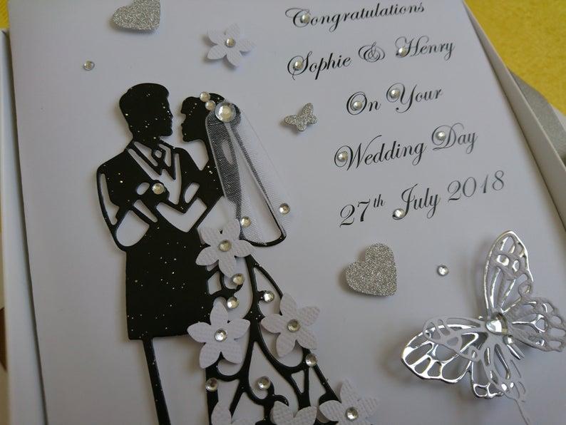 Personalised Luxury Handmade Wedding Card Anniversary Card With Gift Box Wedding Cards Handmade Handmade Card Making Handmade Wedding