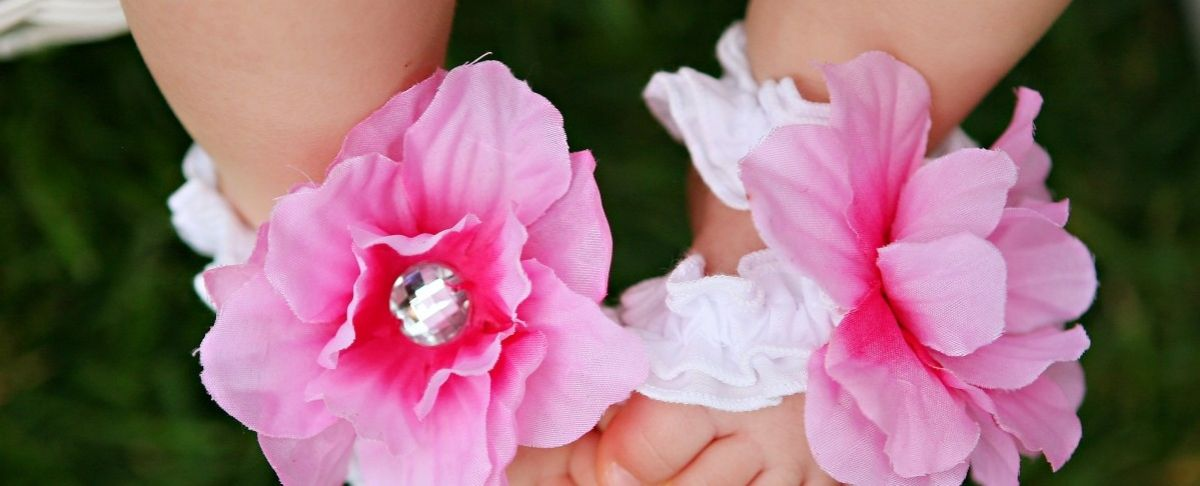 Toe Blooms. Available at LuLu Belle Children's Boutique