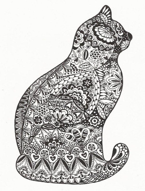 cat mandala coloring pages - cat zentangle displaying 19 gallery images for
