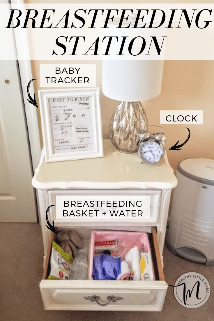 Having a breastfeeding station and breastfeeding basket brought me success because everything was in an arm's reach