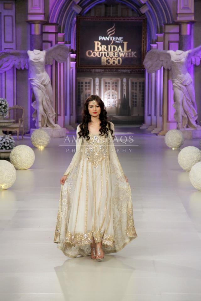 Tabbasum Mughal Pakistani Designer Bridal Off White Dress