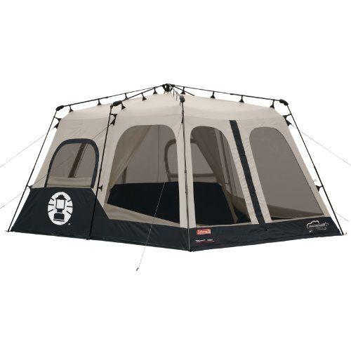 Coleman Instant 8 Person Tent Black 14x10 Feet Best Family Camping Tents Instant Tent Tent Camping