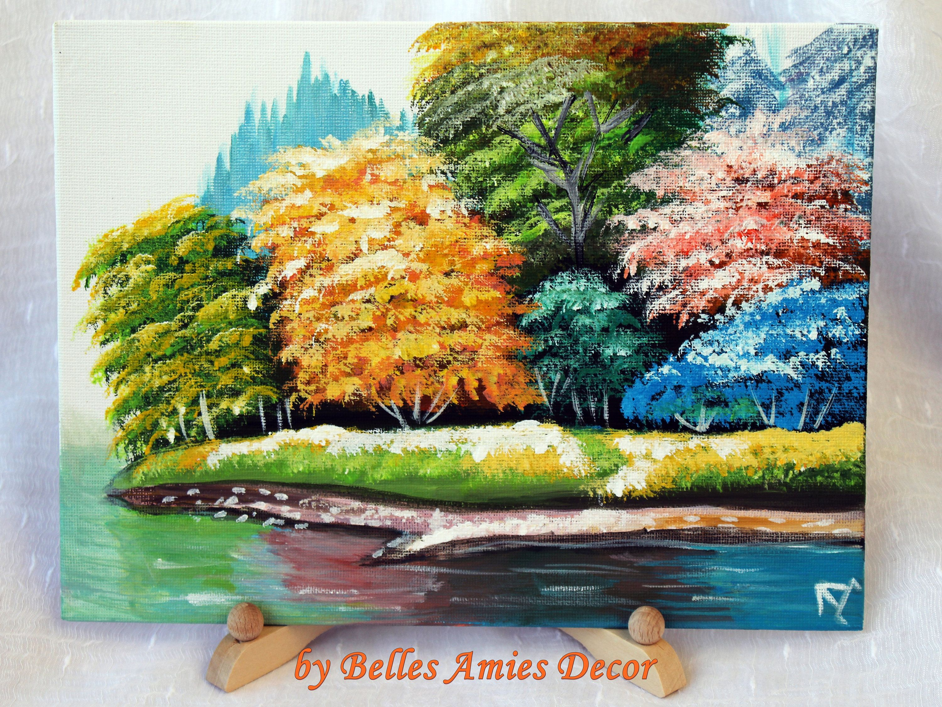 Original acrylic painting on canvas landscape wall art