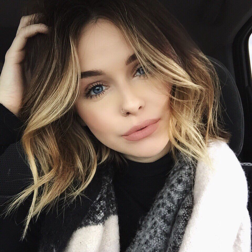 I love when the blondes come up around the face hair pinterest