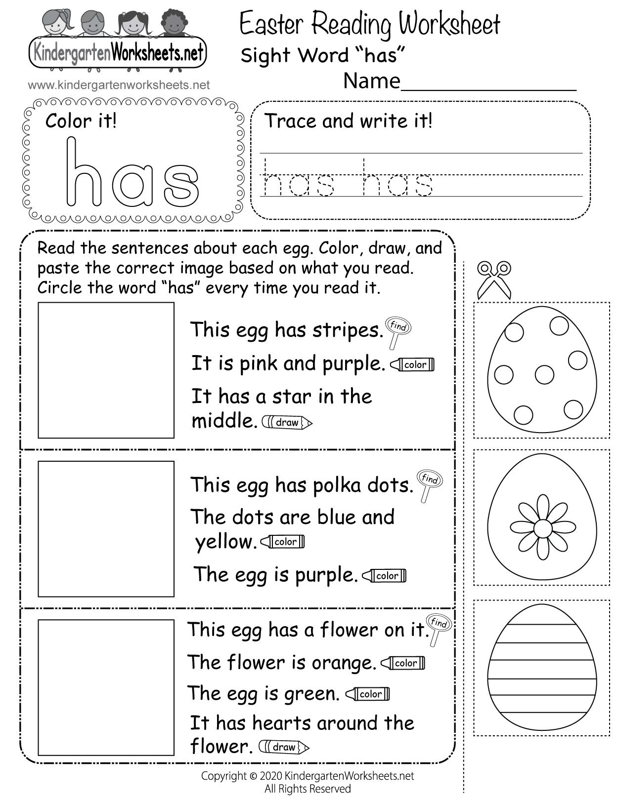 Kindergarten Easter Reading Worksheet In 2021 Reading Worksheets Kindergarten Spring Math Worksheets Kindergarten Reading Worksheets [ 1618 x 1250 Pixel ]