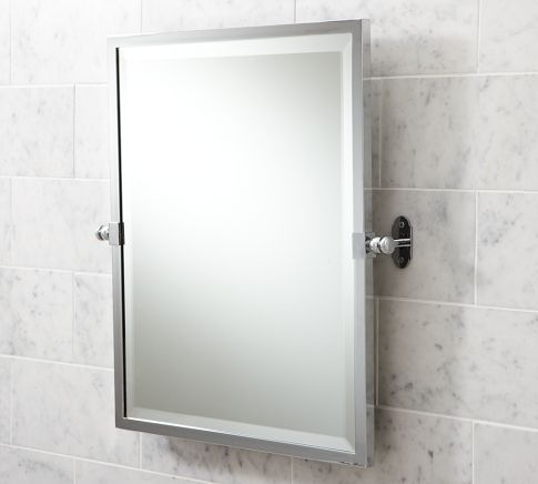 Covingron Pivot Mirror, Pottery Barn, $199, Chrome Finish (for Master Bath)