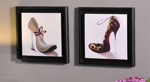"""Diva, shoe lover, stilettos, and high heels, this would make an excellent addition to that wall that is crying"""" make me pretty""""."""