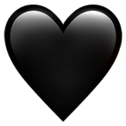 Black Heart Emoji Png In 2020 Black Heart Emoji Black Heart Apple Emojis