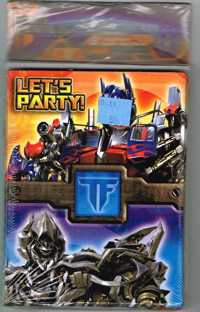 Transformers birthday invitations 8 with thank you cards lets party transformers birthday invitations 8 with thank you cards lets party unopened ebay filmwisefo