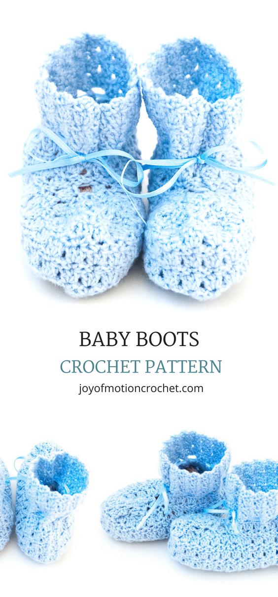 Baby Boots - Easy Crochet Pattern Design