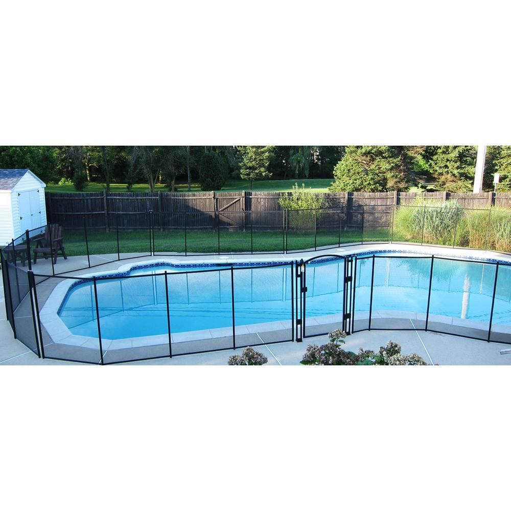 Sentry Safety Pool Fence 5 Ft X 10 Ft Brown Removable Child Barrier Pool Safety Mesh Fence Visiguard 5 Brown The Home Depot In 2021 Pool Fence Pool Safety Mesh Pool Fence